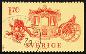 Postage stamp Sweden 1978 Coronation Coach, 1699 — Stock Photo