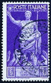 Postage stamp Italy 1937 Emperor Augustus Caesar Receiving Accla — Stock Photo