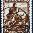 Stock Photo: Postage stamp Italy 1938 Romulus Plowing Furrow