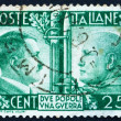 Postage stamp Italy 1941 Adolf Hitler and Benito Mussolini — Stock Photo