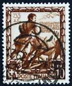 Postage stamp Italy 1938 Romulus Plowing a Furrow — Stock Photo