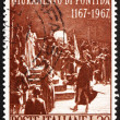 Foto de Stock  : Postage stamp Italy 1967 shows Oath of Pontida, by Adolfo Cao