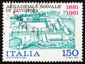 Postage stamp Italy 1981 shows View of Naval Academy of Livorno — Stock Photo