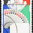 Postage stamp Netherlands 1980 Bridge Players, Netherlands Hand — Stock Photo