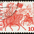 Royalty-Free Stock Photo: Postage stamp Switzerland 1979 Horse Race, Zurich