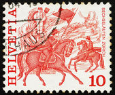 Postage stamp Switzerland 1979 Horse Race, Zurich — Stock Photo