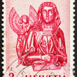 Постер, плакат: Postage stamp Switzerland 1961 St Mathew and Angel St Oswald