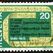 Постер, плакат: Postage stamp Switzerland 1970 Telex Tape