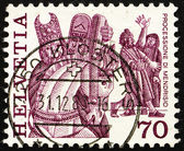 Postage stamp Switzerland 1977 Procession, Mendrisio — Stock Photo