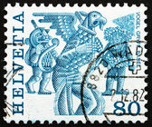 Postage stamp Switzerland 1977 Griffins, Basel — Stock Photo