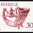 Postage stamp Sweden 1976 Drinking Horn — Stock Photo