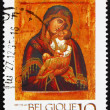 Postage stamp Belgium 1991 Icon of Madonna and Child, Christmas — Stock Photo