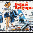 Постер, плакат: Postage stamp Belgium 1993 Air Hostess Natacha by Francois Walt