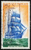 Postage stamp France 1972 Newfoundlander Ship Cote d'Emeraude — Stock Photo
