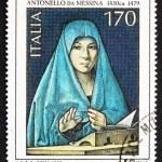 Постер, плакат: Postage stamp Italy 1979 shows Virgin Mary by Antonello da Mess