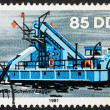 Stock Photo: Postage stamp GDR 1981 Bucket Dredger, River Boat