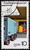 Postage stamp GDR 1978 Loading Container on Truck — Stock Photo