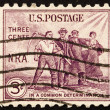Postage stamp US1933 Group of workers — Stock Photo #8059869