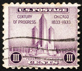 Postage stamp USA 1933 Federal building at Chicago — Stock fotografie