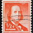 Stock Photo: Postage stamp US1954 Benjamin Franklin