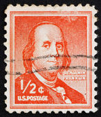 Postage stamp USA 1954 Benjamin Franklin — Stock Photo