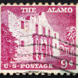 Stock Photo: Postage stamp USA 1954 The Alamo