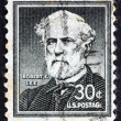 Stock Photo: Postage stamp USA 1954 Robert E. Lee
