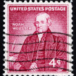 Постер, плакат: Postage stamp USA 1958 Noah Webster