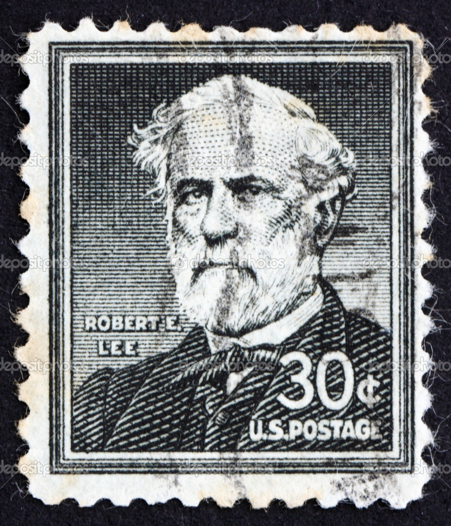 UNITED STATES OF AMERICA - CIRCA 1954: a stamp printed in the United States of America shows Robert E. Lee, commander of the Confederate Army of North. Virginia — Stock Photo #8071986