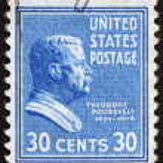 ������, ������: Postage stamp USA 1938 Theodore Roosevelt