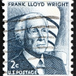 Postage stamp USA 1965 Frank Lloyd Wright — Stock Photo