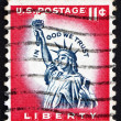 Postage stamp USA 1954 Statue of Liberty - Stok fotoğraf