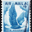 Postage stamp USA 1954 Eagle in flight - Zdjęcie stockowe