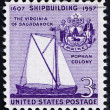 Postage stamp USA 1957 Virginia of Sagadahoc - Stok fotoğraf