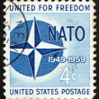 Postage stamp USA 1959 NATO Emblem - 