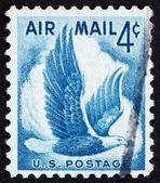 почтовая марка сша 1954 орел в полете — Стоковое фото