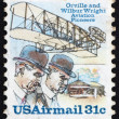 Postage stamp USA 1978 Orville and Wilbur Wright — Stock Photo
