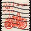 图库照片: Postage stamp US1981 Fire pumper