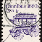 Postage stamp USA 1983 Omnibus — Stock Photo