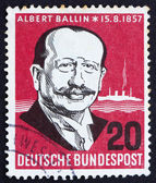 Briefmarke deutschland 1957 albert ballin — Stockfoto