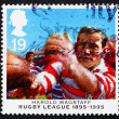 Постер, плакат: Postage stamp GB 1995 Harold Wagstaff rugby player
