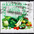 Postage stamp GB 1989 Fruit and vegetables — Stock Photo