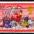 Stock Photo: Postage stamp GB 1979 Angel appearing before the shepherds