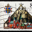 Postage stamp Germany 1987 State visit of Pope John Paul II - Stock Photo