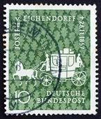 Postage stamp Germany 1957 Coach, Joseph V. Eichendorff — Stock Photo
