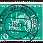 Постер, плакат: Postage stamp Germany 1961 Gottlieb Daimler's Car