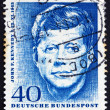 Postage stamp Germany 1964 John F. Kennedy — Stock Photo