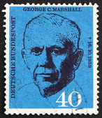 Postage stamp Germany 1960 George C. Marshall — Stock Photo