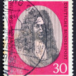 Stock Photo: Postage stamp Germany 1966 Gottfried Wilhelm Leibniz