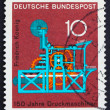 Postage stamp Germany 1968 Koenig Printing Press — Stock Photo